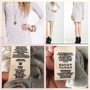 Free People Dresses - Free People Velvet Dress Sheer Mini  LG